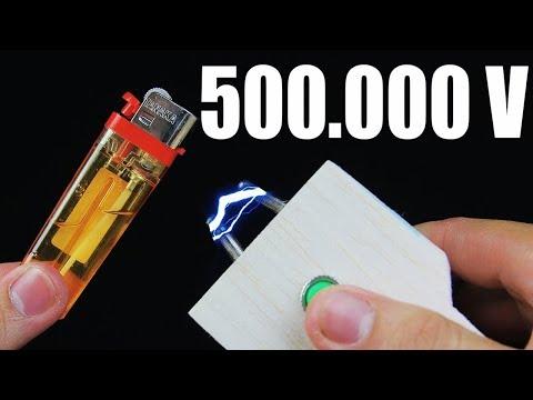 How To Make POWERFUL Stun Gun - 500.000V at Home!!