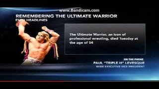 Triple H Talks to ESPN About The Ultimate Warrior