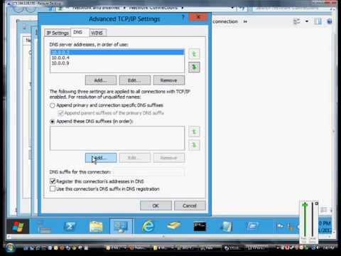 How and why to add DNS suffixes to a network card in Microsoft Windows Server 2012