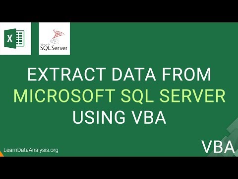 How to Retrieve Data From Microsoft SQL Server with Excel VBA | Excel VBA Automation