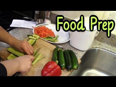 Food Prep (Bibimbap Prep, Rice Custard, Meatballs)