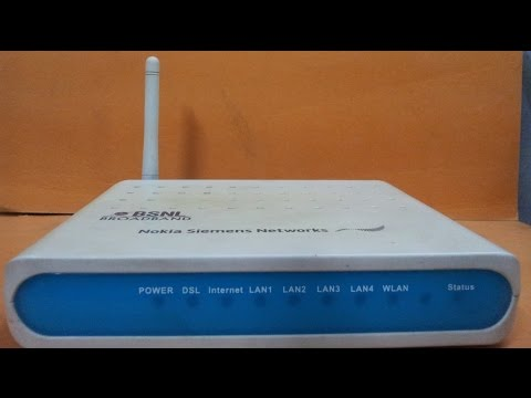 How to change WIFI Password in Nokia siemens networks modem