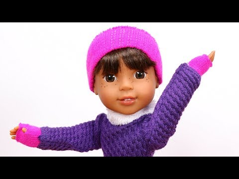 DIY American Girl Doll Gloves & Headband for WellieWishers