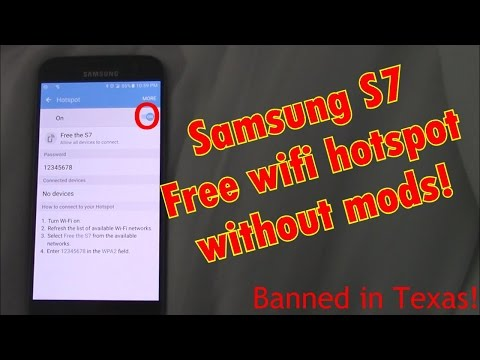 Sprint S7, how to get free wifi hotspot.  The 2EZ method!