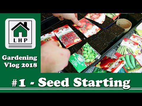 Seed Starting and Soil Mixing - Gardening Vlog #1 - LHP