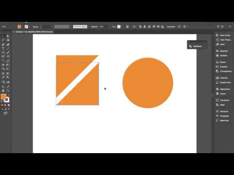 Adobe Illustrator Tutorial: Using the Scissors Tool to Cut Shapes