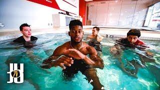 JuJu Smith-Schuster NFL Cold Tub Challenge