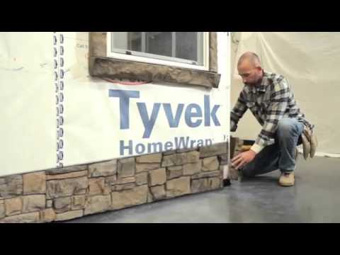 Starter Strip & Panel Installation   Simulated Stone Panels   EasyRock