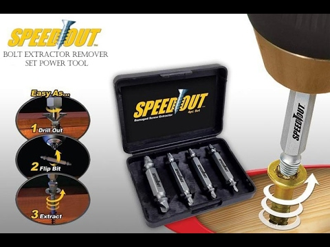 Bolt Extractor Remover Set Power Tool - extracting broken bolts using an extractor