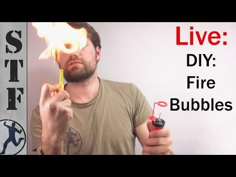 I was Live: DIY Fire Soap Bubbles