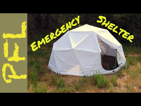 Emergency Dome Shelter from Harvest Right   Set Up and Review