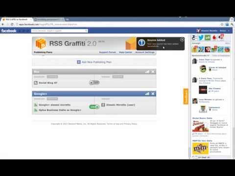How to add a RSS feed to a Facebook Page
