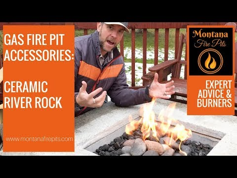 Gas Fire Pit Accessories: Ceramic River Rocks