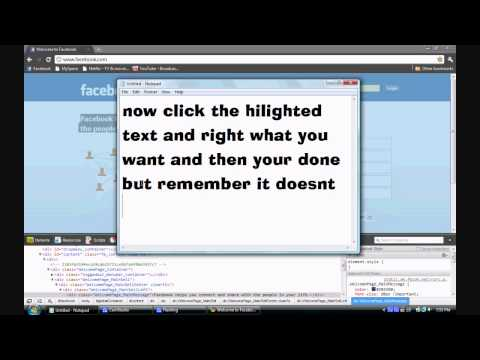 How to change text with google chrome