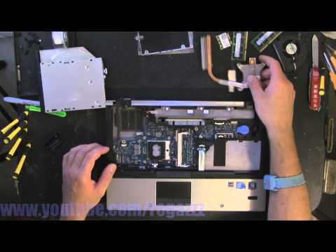 HP ELITEBOOK 8440P take apart video, disassemble, how to open disassembly