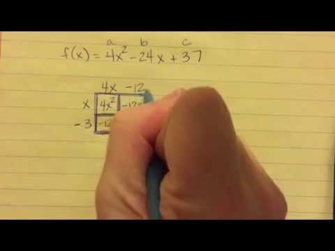 Standard to Vertex Form: Box Method