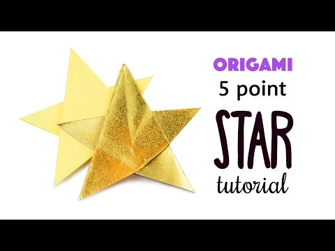 Easy Origami 5 Point Star Tutorial ⭐️ DIY ⭐️ Paper Kawaii