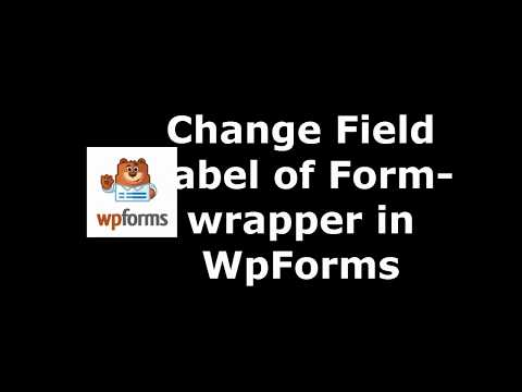 Trick to Set Field Label Font Color in WpForms