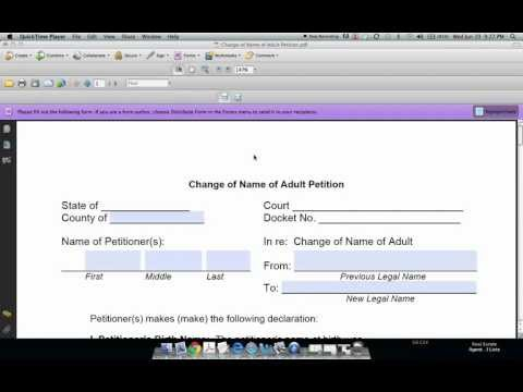 How to Fill Out a Name Change Form and Petition