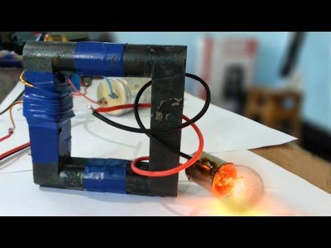 High Frequency Transformer / DIY Ferrite core transformer / Mini demonstration