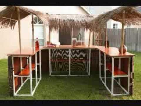 Mobile Tiki Bar - single, double, and triple bar! portable