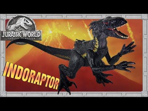 Unboxing INDORAPTOR Jurassic World Fallen Kingdom Super Poseable Hybrid Dinosaur