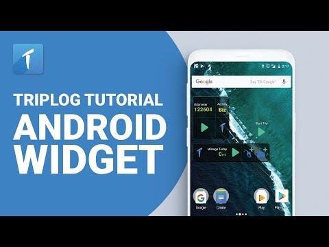 TripLog Tutorial - Android Widget