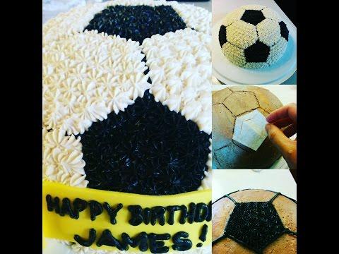 Dancey Cake - Easy Buttercream Frosting Soccer Ball Cake