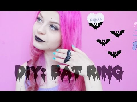 DIY: Bat Ring/ Pastel Goth Inspired Ring