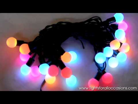 Color-Changing LED Mini-Globe Lights