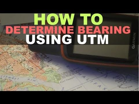 Map & Compass - How To Determine Bearing Using UTM Garmin GPSmap 62