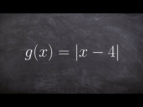Pre-Calculus - How to find the domain and range from an absolute value graph, g(x) = |x - 4|