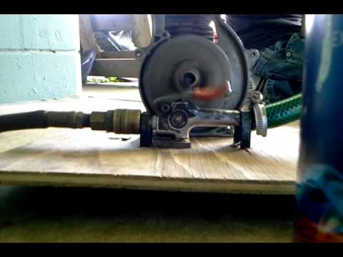 weed eater engine running on compressed air!!!!