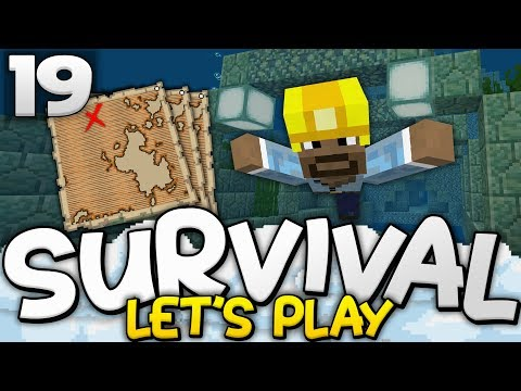 7 TREASURE MAPS!?! - Survival Let's Play Ep. 19 - Minecraft Bedrock (PE W10 XB1)