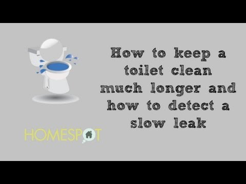 Toilet Maintenance: How to keep a toilet clean much longer