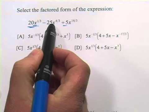 Factoring Expressions with Rational Exponents