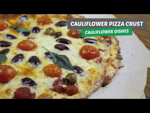 The BEST cauliflower PIZZA CRUST | Cauliflower dishes #2