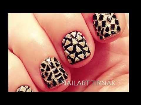 Mosaic Nails With Eggshell