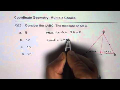 23 Find the Length of the Side From Perpendicular Bisector