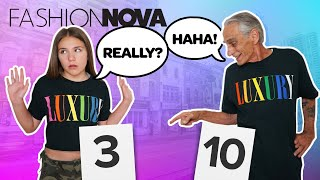 Grandpa REACTS to FASHION NOVA Outfits **Who Wore It Better CHALLENGE**🔥| Piper Rockelle