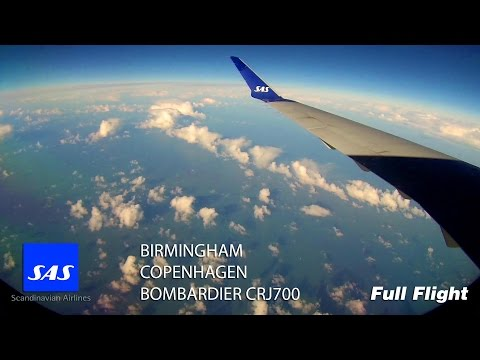 SAS CRJ 900/CRJ900 Full Flight - Birmingham to Copenhagen (SK2534) *With ATC*