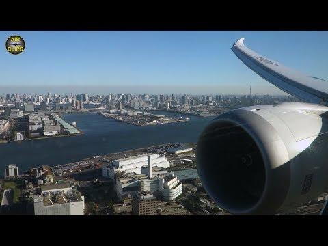 BREATHTAKING Tokyo Downtown Views: ANA Boeing 787 Haneda Sunny Morning Landing!!! [AirClips]