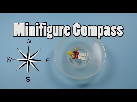 How to make a Compass with a LEGO Minifigure - LEGO Life Hack