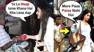 Sara Ali Khan vs Jhanvi Kapoor - Behaviour With Beggars