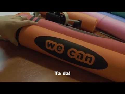 How to Make a Giant Pool Noodle Crayon