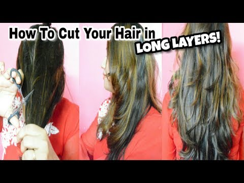Cut Your Own Long Layered Haircuts At Home | Haircuts For Long Hair | How To Cut Layers In Long Hair