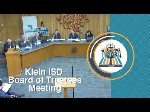 Klein ISD: Board of Trustees Meeting, 06/12/2017