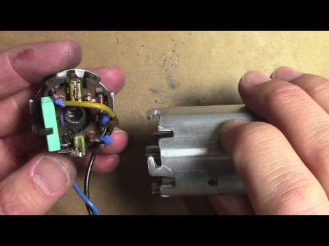 How to repair fix an electric motor - replace carbon brushes