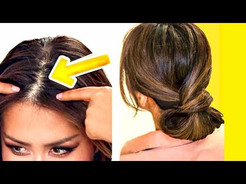 ★  2-MINUTE ELEGANT BUN for THIN HAIR | EASY UPDO HAIRSTYLES for Girls