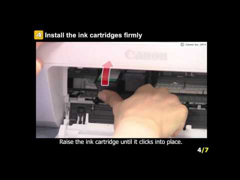 PIXMA MG2922: Setting the ink tanks